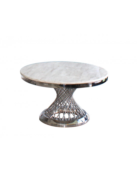 Elite SK2041A Marble Top Coffee Table Silver