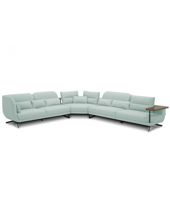 Lorenzo Corner Fabric Suite - Green