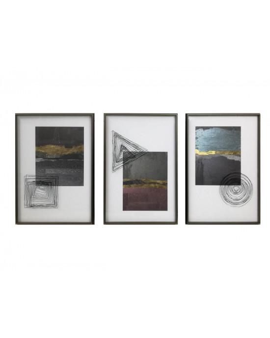 LTZ-19080054/55/56 Set Of 3 Framed Wall Art