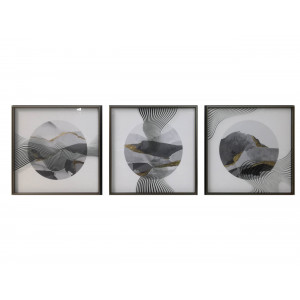 LTY-19080100/01/02 Set Of 3 Framed Wall Art