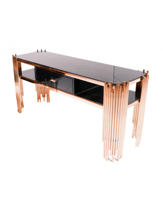 Coco Console With Draws Rose Gold
