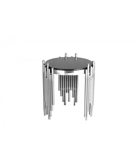 Coco Lamp Table Silver