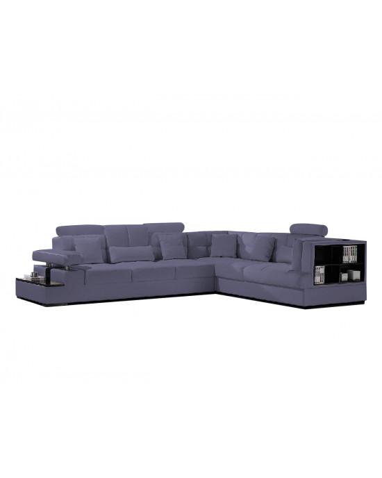 Falco Corner Lounge Suite Dark Grey
