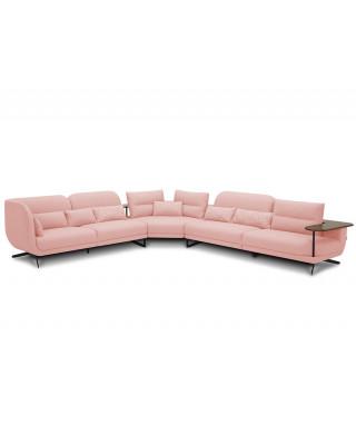 Lorenzo Corner Fabric Suite - Pink