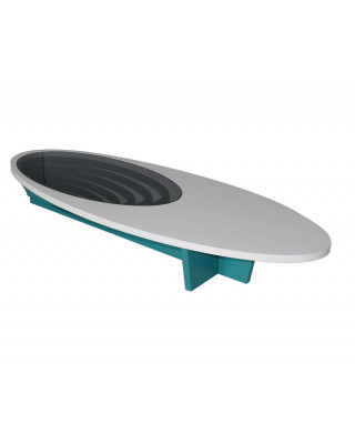Boeing Coffee Table White And Turquoise