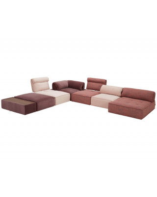 Zenith Sectional Lounge Red and Pink