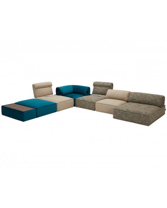 Zenith Sectional Lounge Blue and Indigo