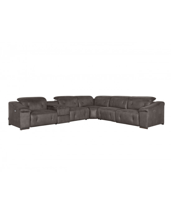 Allegra Electric Motion Lounge Suite Grey