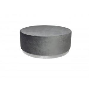 Montague Ottoman Big Grey (Silver Base)