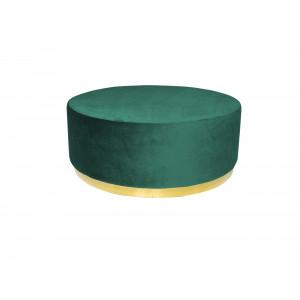 Montague Ottoman Big Green (Gold Base)