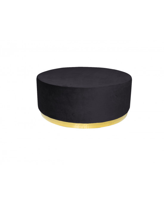 Montague Ottoman Big Black (Gold Base)