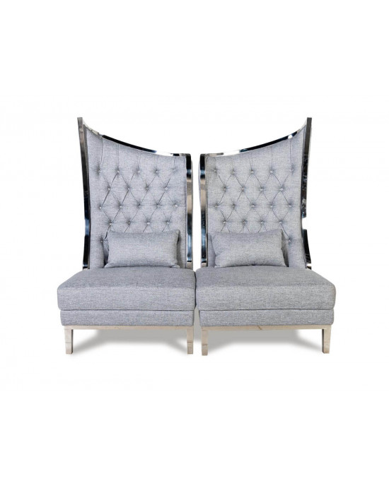 Love Wing Back - Set of 2 Grey