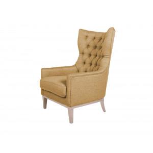 Diamond Wingback Chair Camel