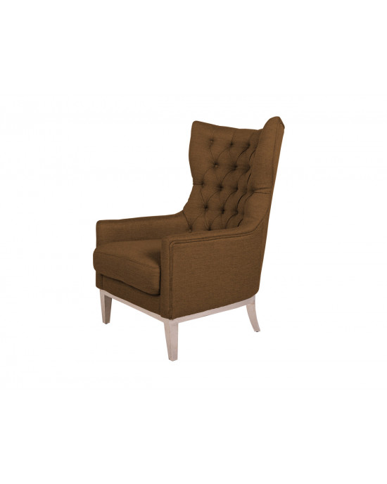 Diamond Wingback Chair Brown