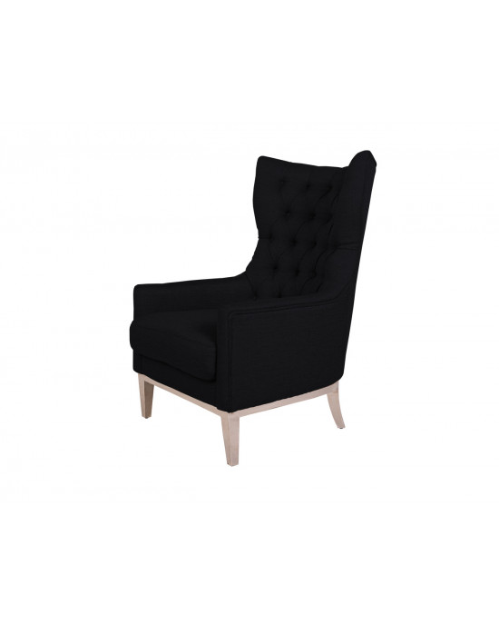 Diamond Wingback Chair Black