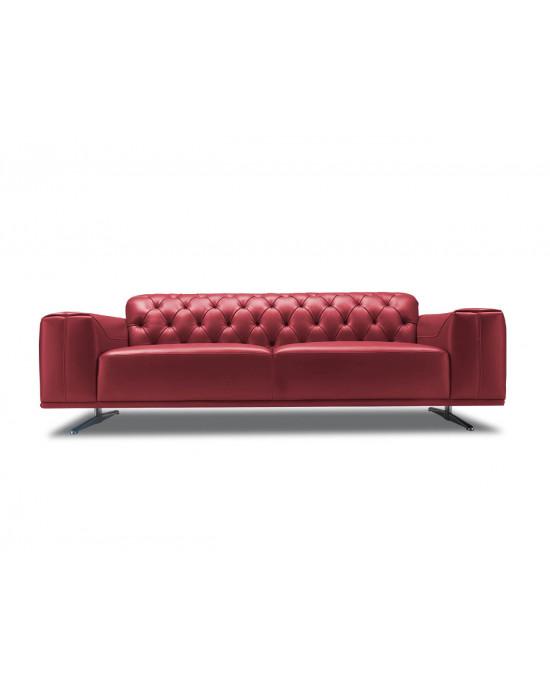 Kenzo 2 Div Sofa Dark Red