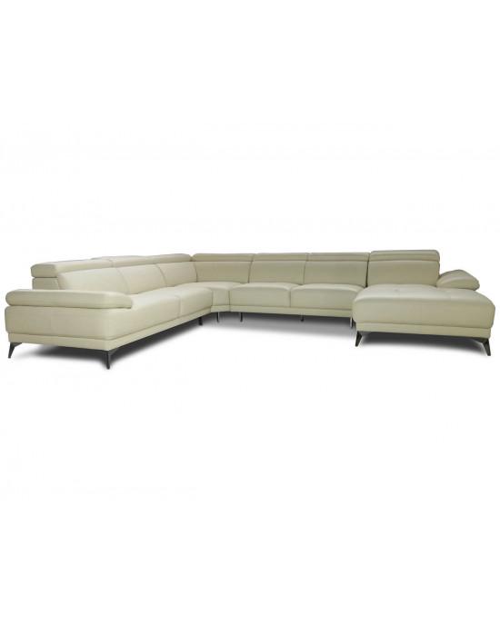 Calia Full Leather Corner Suite