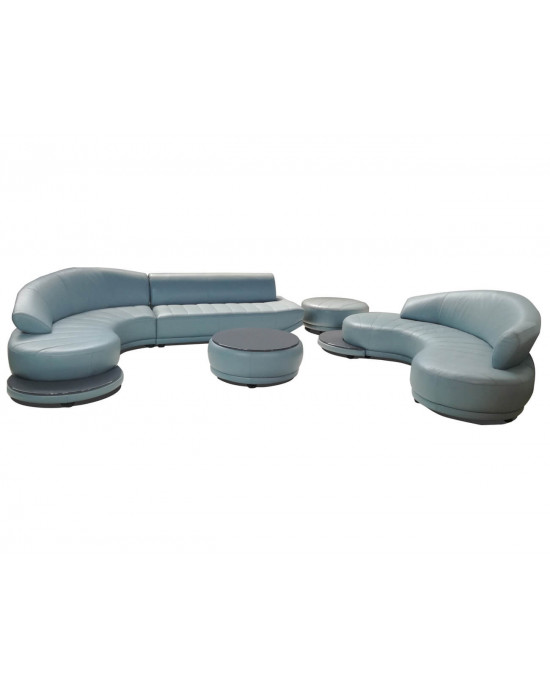 Natalia Sectional Full Leather Lounge Suite