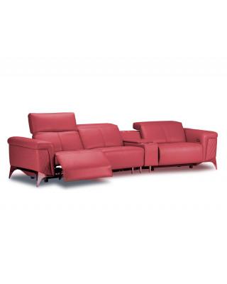 Pharoah Entertainer Couch Full Leather