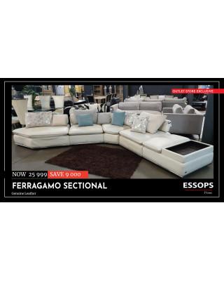Ferragamo Sectional    Genuine Leather