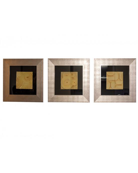 MY6060-0043/A/B/C Framed Object Art SET OF 3