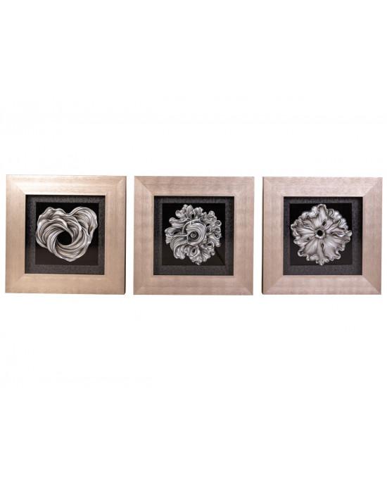 MY6060-0018/A/B/C Framed Object Art SET OF 3