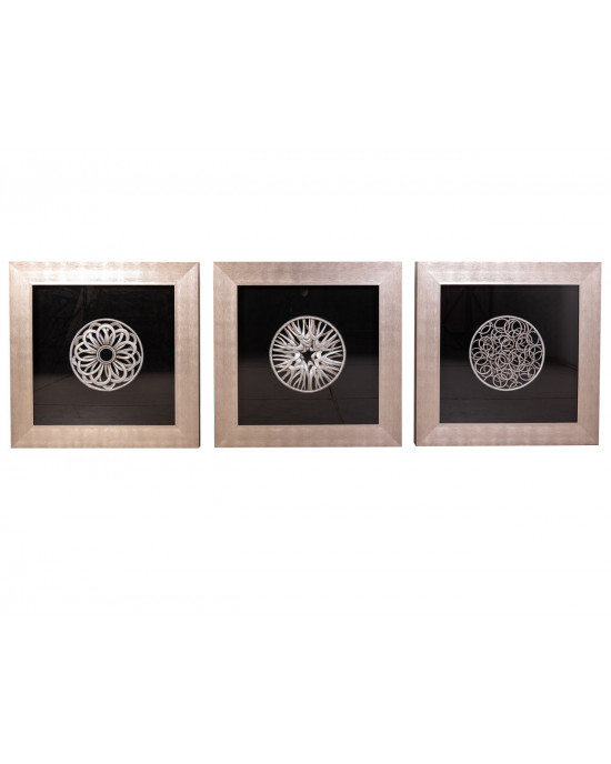 MY8080-0005/A/B/C Framed Object Art SET OF 3