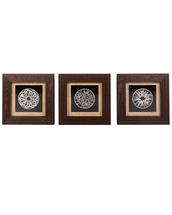 MY6060-0002/A/B/C Framed Object Art SET OF 3