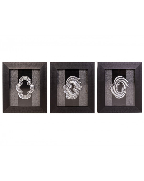 MY7363-0054/A/B/C Framed Object Art SET OF 3