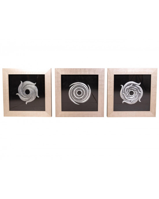 MY8080-0003/A/B/C Framed Object Art SET OF 3