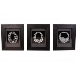 MY7363-0089/A/B/C  Framed Object Art SET OF 3