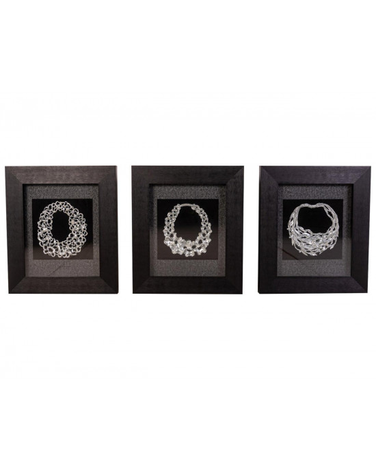 MY7363-0089/A/B/C  Framed Object Art SET OF 3