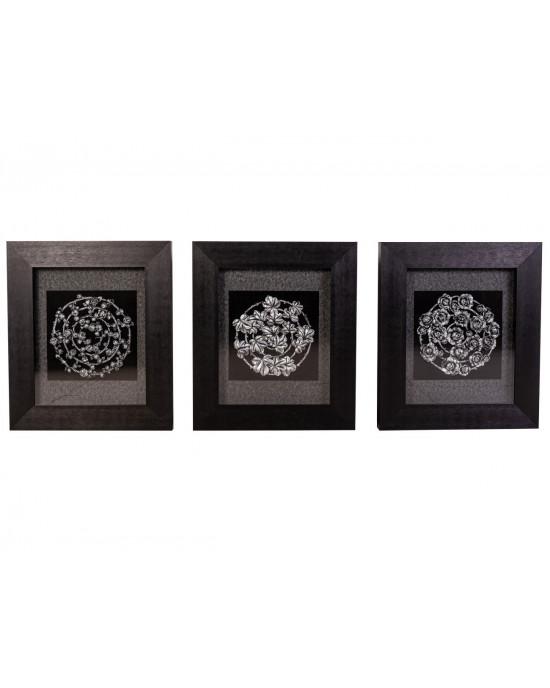 MY7363-0041/A/B/C Framed Object Art Set Of 3