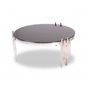 Coco Round Coffee Table Silver
