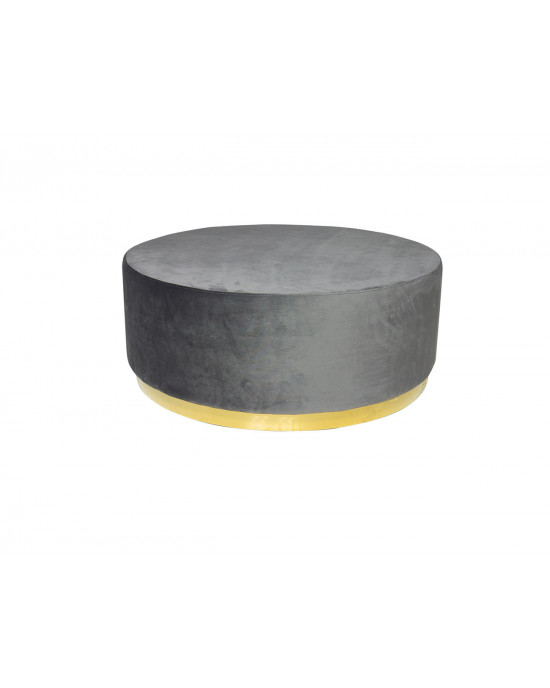 Montague Ottoman Big Grey (Gold Base)