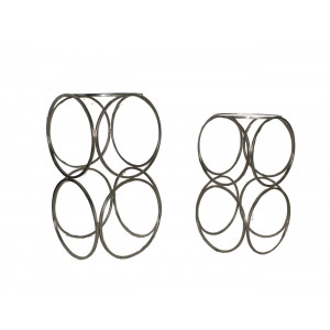 2441W Iron Ring Set OF 2 Nesting Table