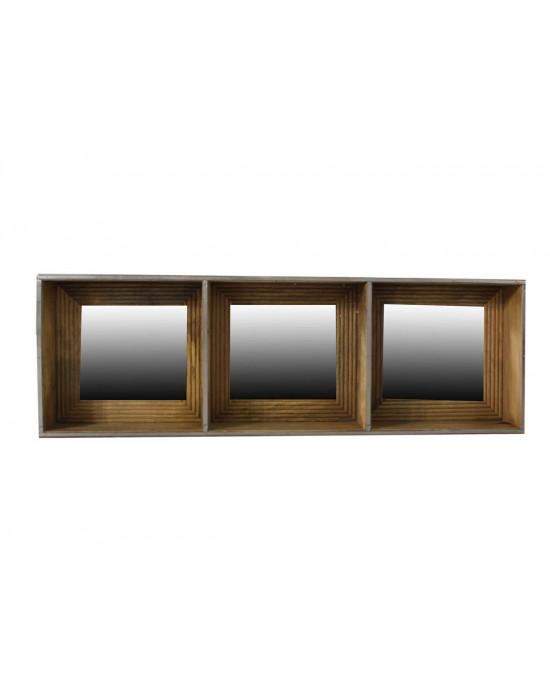 2534A Wooden Tall Shelf Mirror