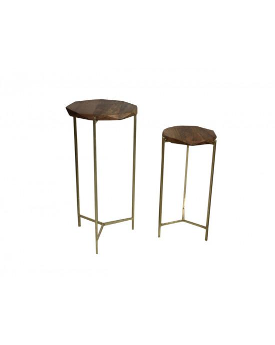 2446S Wooden Diamond Design Tables