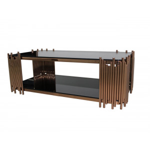 Coco Rectangular Coffee Table Rose Gold