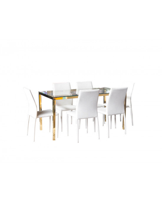 Piatto 1.8m Dining Table Gold