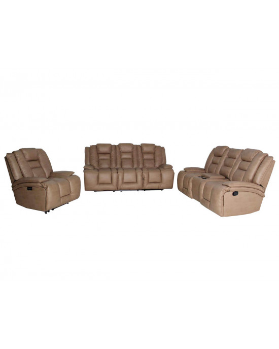 Bentley 3Pce Electric Motion Lounge Suite Mineral