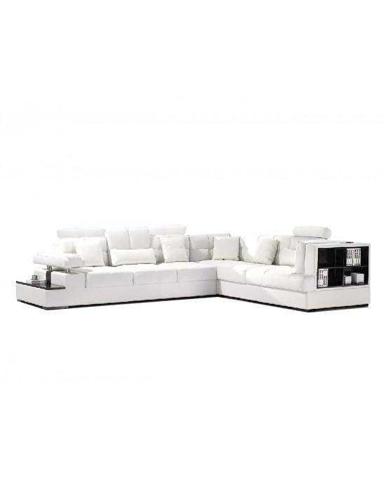 Falco Corner Lounge Suite Snow White