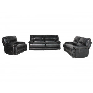 Vincenzo 3PCE Motion Lounge Suite Black