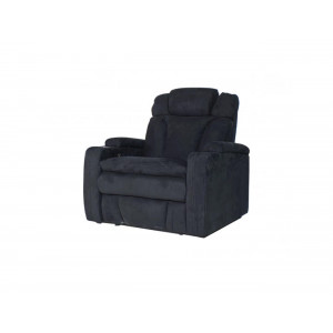 Bentayga 60323 Cinema Electric Motion sofa Black 2 Arm