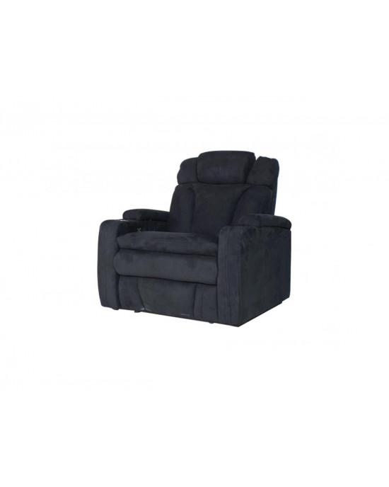 Bentayga 60323 Cinema Electric Motion sofa Black 2 Arm