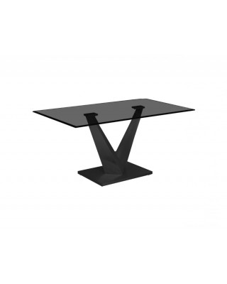 Benz Dining Table Black Base With Black Glass