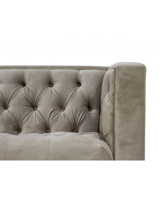 Emilia 3 Seater Velvet Couch Beige
