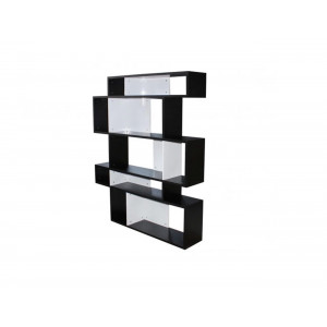 Ovo 114K Bookshelf Black and White