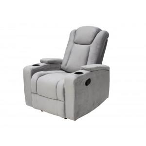Swiss 9335 Single Recliner Chair Fabric Grey