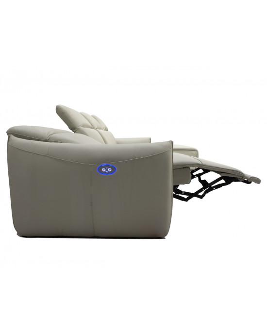Relaxinho Corner Lounge Suite Full Leather Cream
